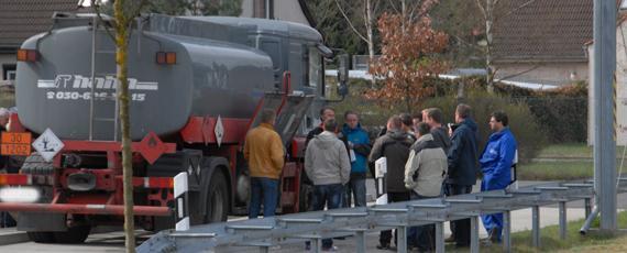 Spezialisierung zur Kontrolle Gefahrguttransporter