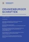 Cover Oranienburger Schriften 1/2014